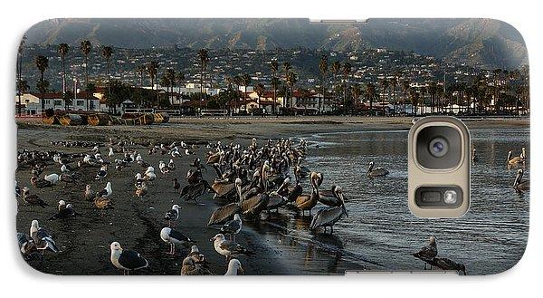 Galaxy Case featuring the photograph Santa Barbara Beach Crowd  by Georgia Mizuleva