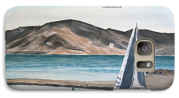 Galaxy Case featuring the painting Santa Barbara Sailing by Ian Donley