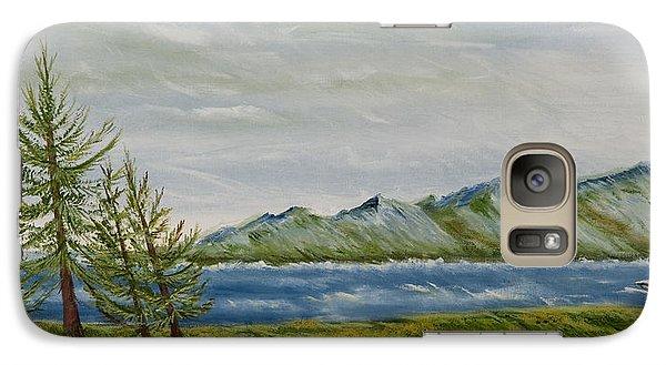 Galaxy Case featuring the painting Santa Barbara Sentinel  by Susan Culver