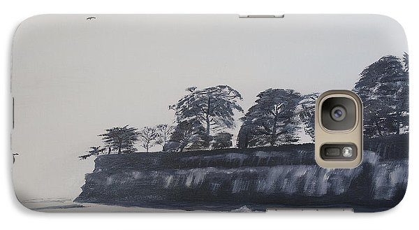 Galaxy Case featuring the painting Santa Barbara Shoreline Park by Ian Donley