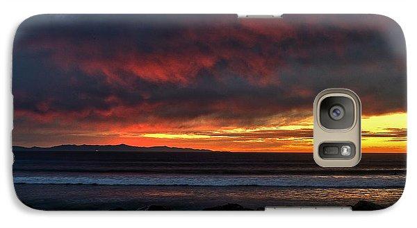 Galaxy Case featuring the photograph Santa Cruz Rocks by Michael Gordon