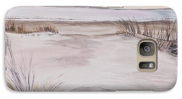 Galaxy Case featuring the painting Santa Cruz Sunset by Ian Donley