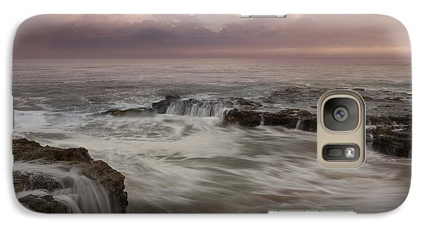 Galaxy Case featuring the photograph Santa Cruz Sunset by Keith Kapple