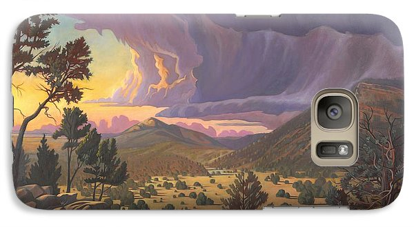 Galaxy Case featuring the painting Santa Fe Baldy by Art James West