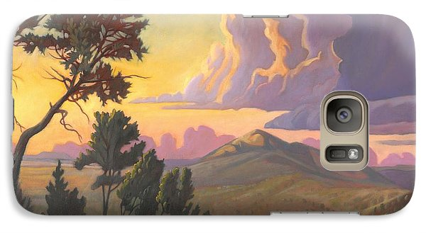 Galaxy Case featuring the painting Santa Fe Baldy - Detail by Art James West