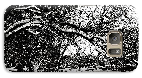 Galaxy Case featuring the digital art Santa Fe Snow Day by Rhonda Strickland