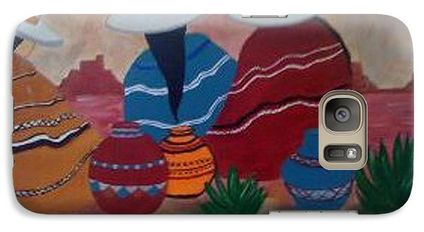 Galaxy Case featuring the painting Santa Fe Women by Judi Goodwin