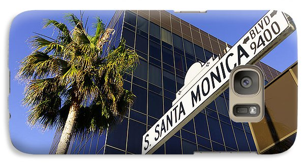 Santa Monica Blvd Sign In Beverly Hills California Galaxy S7 Case by Paul Velgos