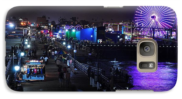 Galaxy Case featuring the digital art Santa Monica Pier 5 by Gandz Photography