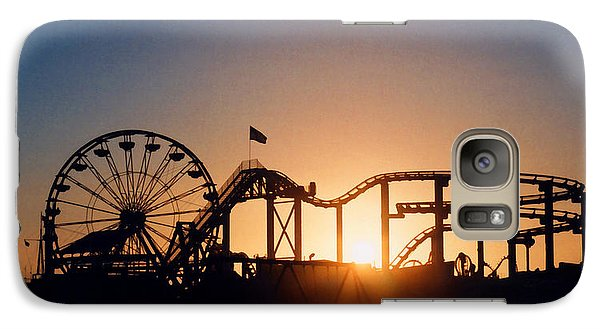 Santa Monica Pier Galaxy Case by Art Block Collections