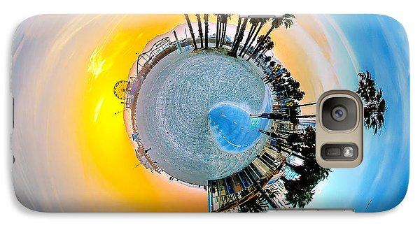 Santa Monica Pier Circagraph Galaxy Case by Az Jackson