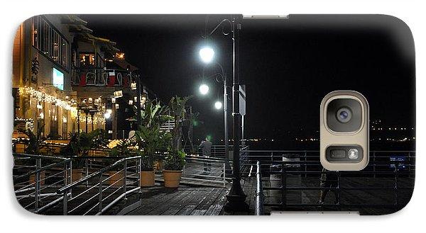 Galaxy Case featuring the digital art Santa Monica Pier by Gandz Photography