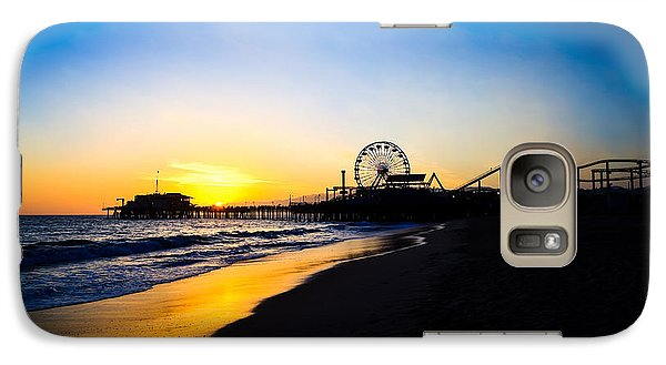 Santa Monica Pier Pacific Ocean Sunset Galaxy S7 Case by Paul Velgos