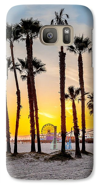 Santa Monica Sunset 2 Galaxy S7 Case by Az Jackson