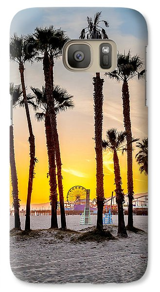 Venice Beach Galaxy S7 Case - Santa Monica Palms by Az Jackson