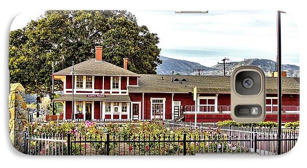 Galaxy Case featuring the photograph Santa Paula Train Station by Jason Abando