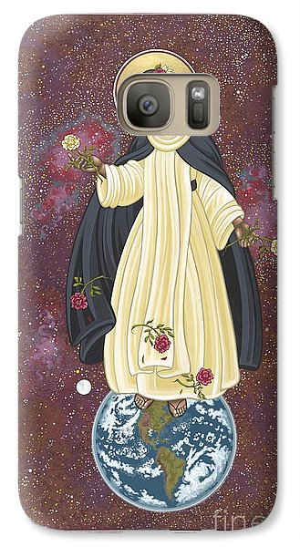 Galaxy Case featuring the painting Santa Rosa Patroness Of The Americas 166 by William Hart McNichols