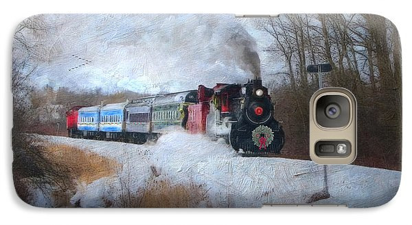 Galaxy Case featuring the digital art Santa Train - Waterloo Central Railway No Text by Lianne Schneider