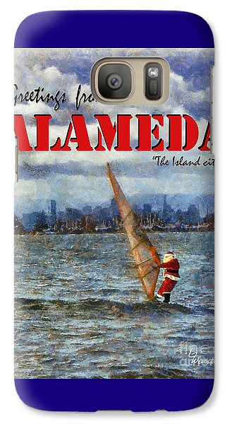 Galaxy Case featuring the photograph Alameda Santa's Greetings by Linda Weinstock