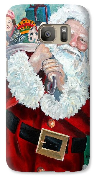 Galaxy Case featuring the painting Santa's Coming To Town by Julie Brugh Riffey