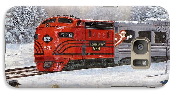 Galaxy Case featuring the painting Santa's Miracles by Kevin F Heuman