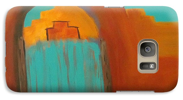 Galaxy Case featuring the painting Sante Fe by Keith Thue