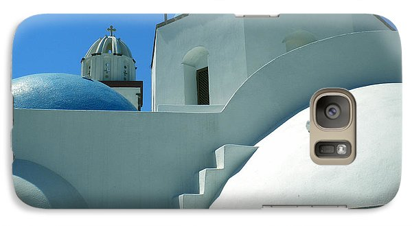 Galaxy Case featuring the photograph Santorini Church Greece by Colette V Hera  Guggenheim