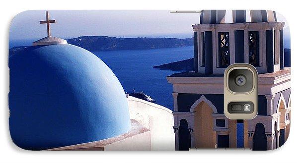 Galaxy Case featuring the photograph Santorini  Island Church Greece  by Colette V Hera  Guggenheim