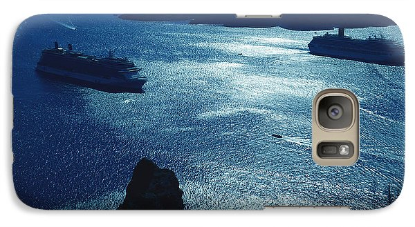 Galaxy Case featuring the photograph Santorini  Silent Night View Greece by Colette V Hera  Guggenheim