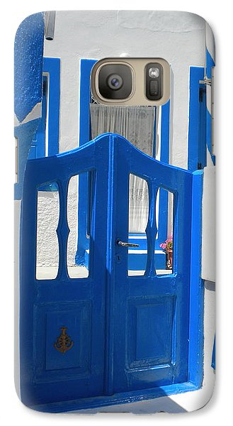 Galaxy Case featuring the photograph Santorini Thirasia Island  by Colette V Hera  Guggenheim