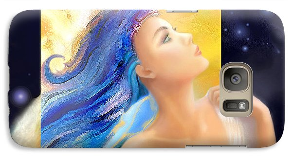 Galaxy Case featuring the painting Sapphire Charm by Michael Rock