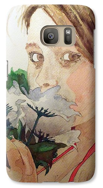 Galaxy Case featuring the painting Sarah's Eyes by Jim Phillips
