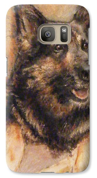 Galaxy Case featuring the painting Sasha German Shepherd by Richard James Digance