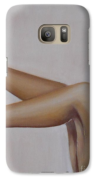 Galaxy Case featuring the painting Sassy by Jane  See