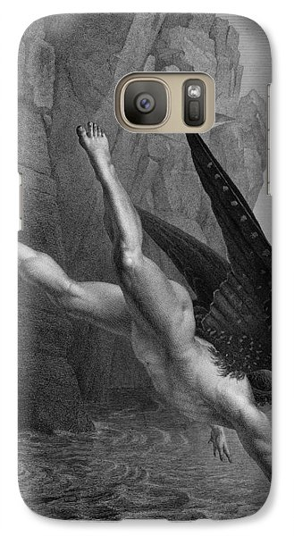 Satan Plunges Into The River Styx Galaxy Case by Richard Edmond Flatters