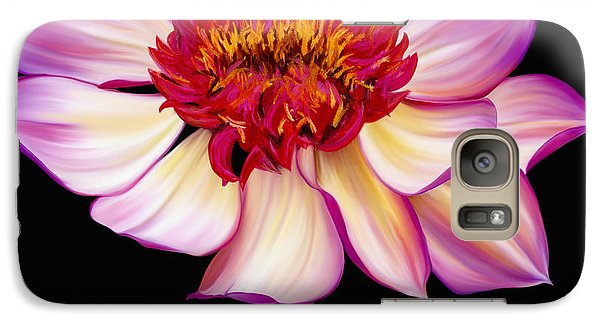 Galaxy Case featuring the painting Satin Flames by Laura Bell