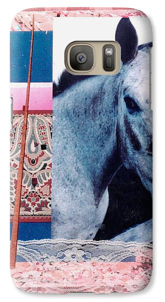 Galaxy Case featuring the mixed media Saturday by Mary Ann  Leitch