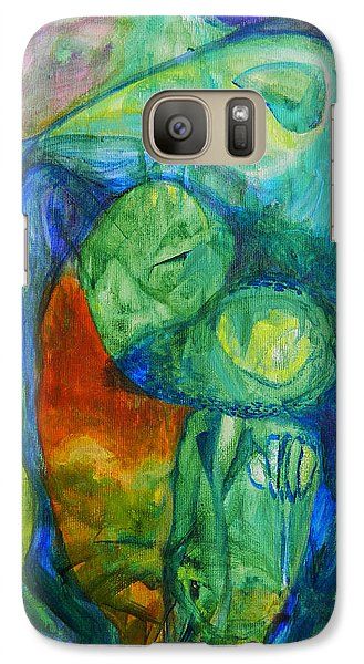 Galaxy Case featuring the painting Saurian Foyer by Christophe Ennis