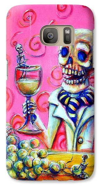 Galaxy Case featuring the painting Mi Sauvignon Blanc by Heather Calderon