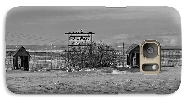 Galaxy Case featuring the photograph Savageton Cemetery  Wyoming by Cathy Anderson