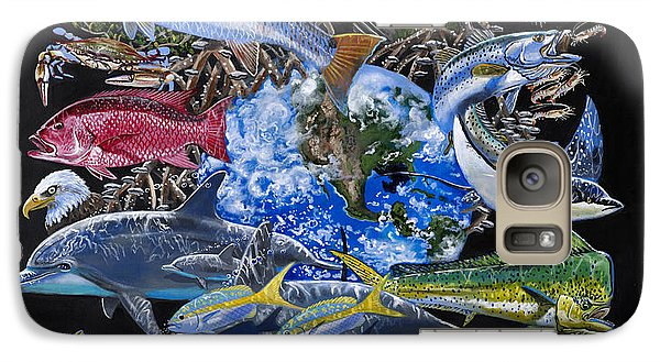 Spoonbill Galaxy S7 Case - Save Our Seas In008 by Carey Chen