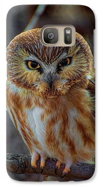 Galaxy Case featuring the photograph Saw-whet Owl by Britt Runyon