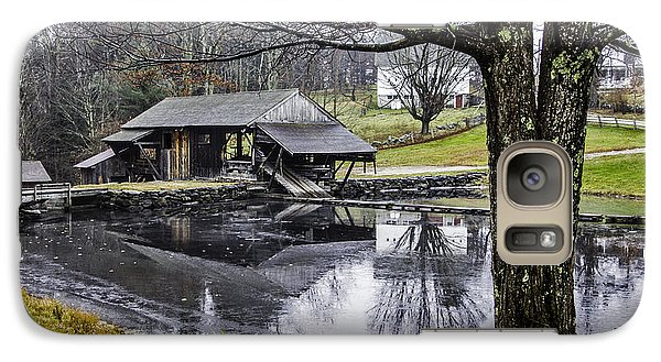 Galaxy Case featuring the photograph Sawmill In Late Fall by Betty Denise