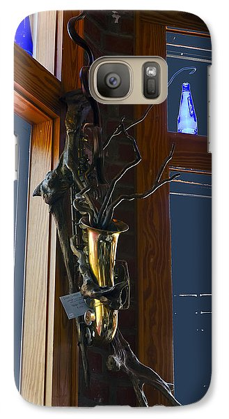 Galaxy Case featuring the photograph Sax At The Full Moon Cafe by Greg Reed