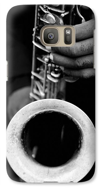Galaxy Case featuring the photograph Sax Player by Dave Beckerman