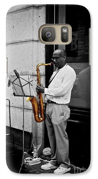 Galaxy Case featuring the photograph Sax Player  by Sarah Mullin