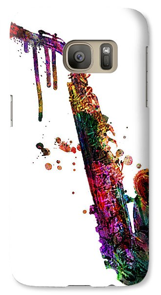 Saxophone Galaxy S7 Case - Saxophone 2 by Mark Ashkenazi