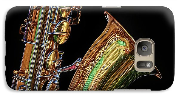 Galaxy Case featuring the photograph Saxophone by Dave Mills