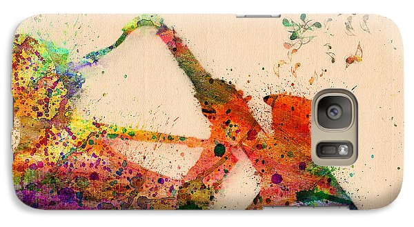 Saxophone Galaxy S7 Case - Saxophone  by Mark Ashkenazi