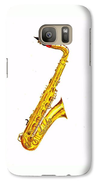 Saxophone Galaxy S7 Case - Saxophone by Michael Vigliotti